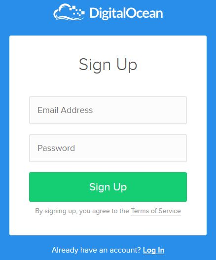 digitalocean signup