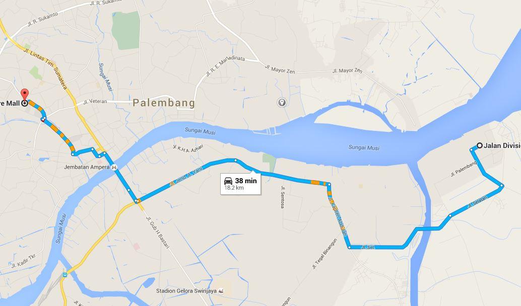 maps gojek palembang